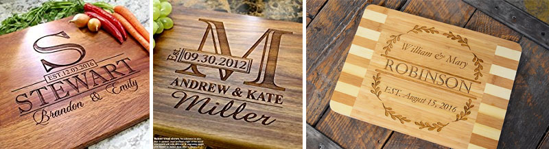 5 year anniversary gift wooden chopping board