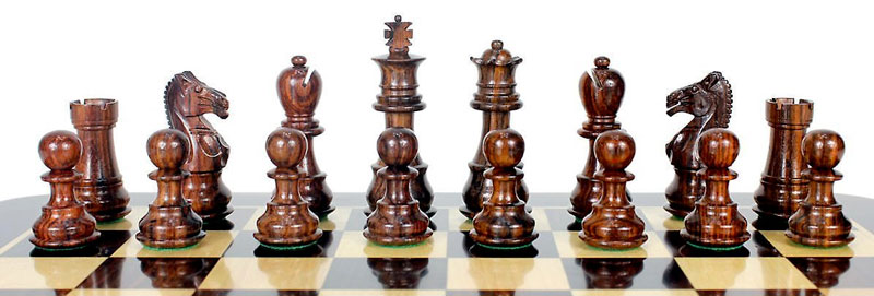 5 year anniversary gift wooden chess