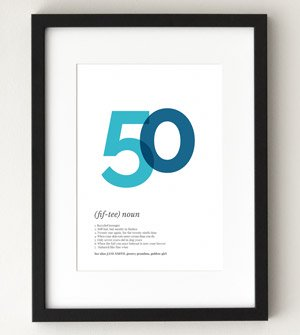 50 definition funny poster
