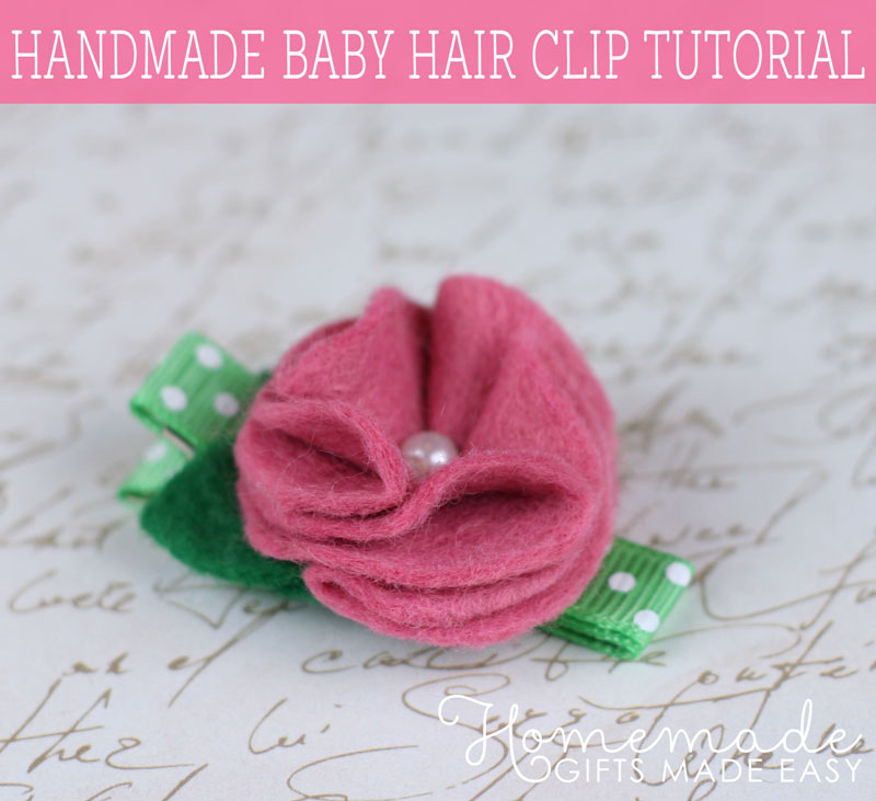 Easy homemade baby gifts to make ideas tutorials and photos homemade baby gifts hair clip negle Gallery
