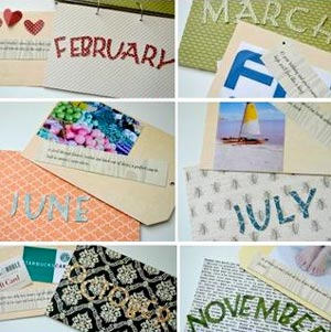 homemade valentine gifts - year of dates and outings