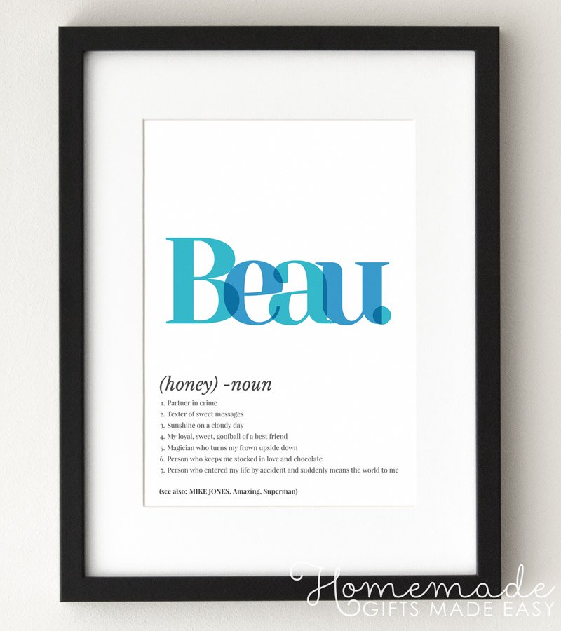 beau definition art poster