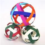 christmas ornaments to make woven paper balls