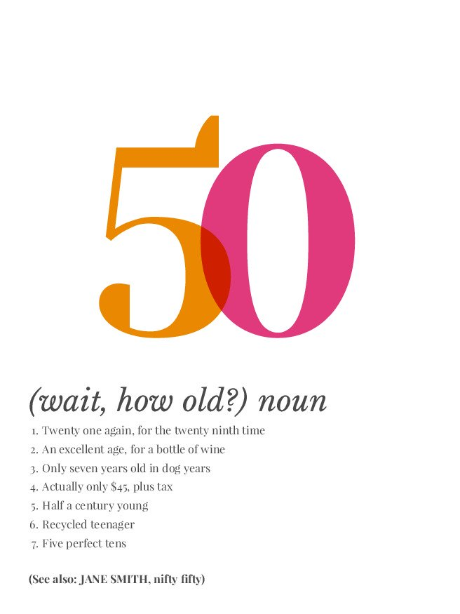 Personalised Definition Of Mum Print: Definition Of 50 Personalized Poster