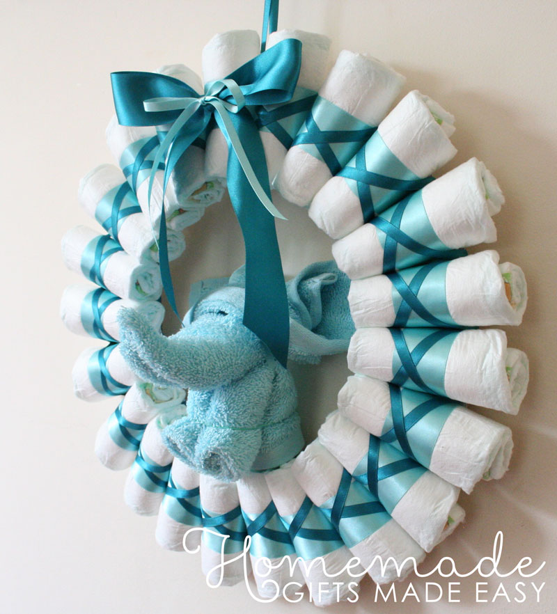 Diaper Wreath Instructions Rolled Diapers For Chic Style