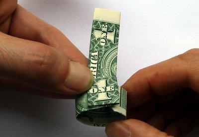 dollar bill ring step 7b
