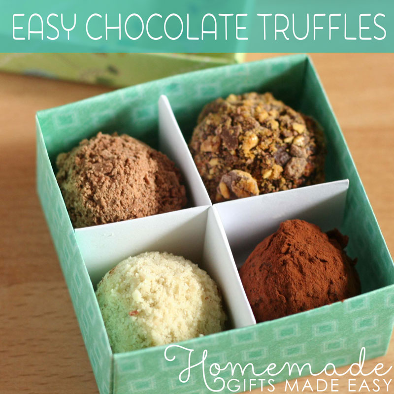 homemade food gifts chocolate truffles