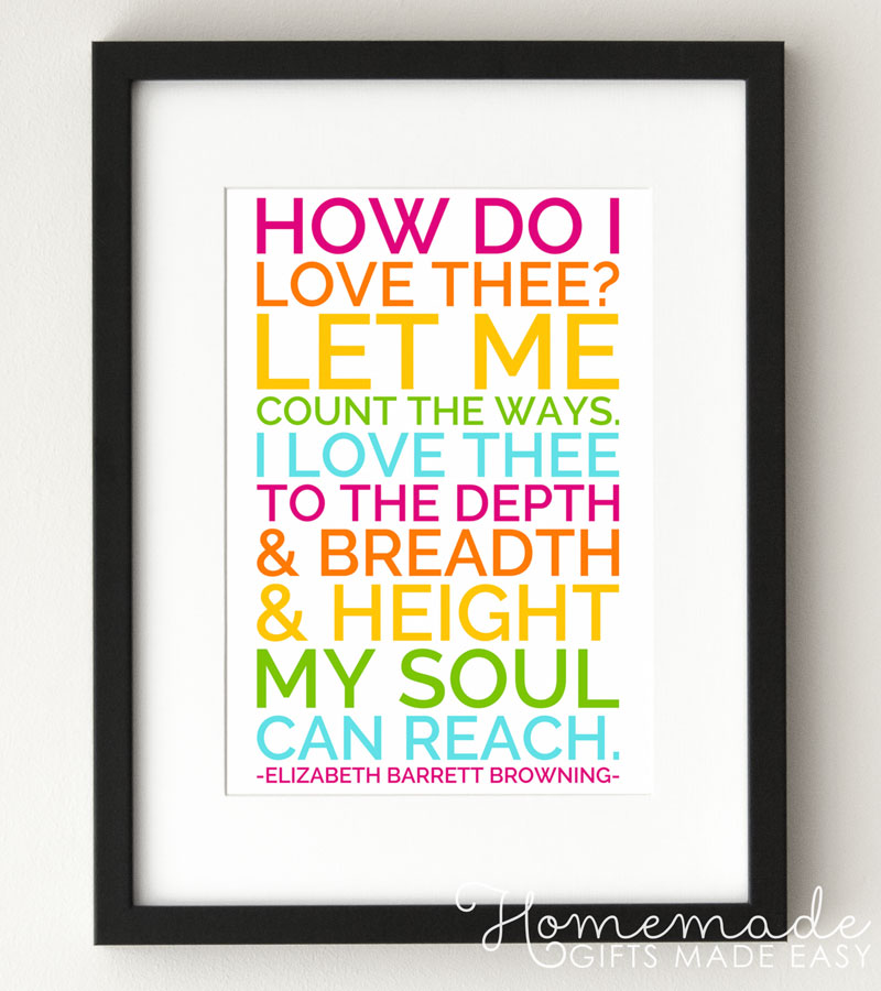 Elizabeth Barrett Browning love quote poster