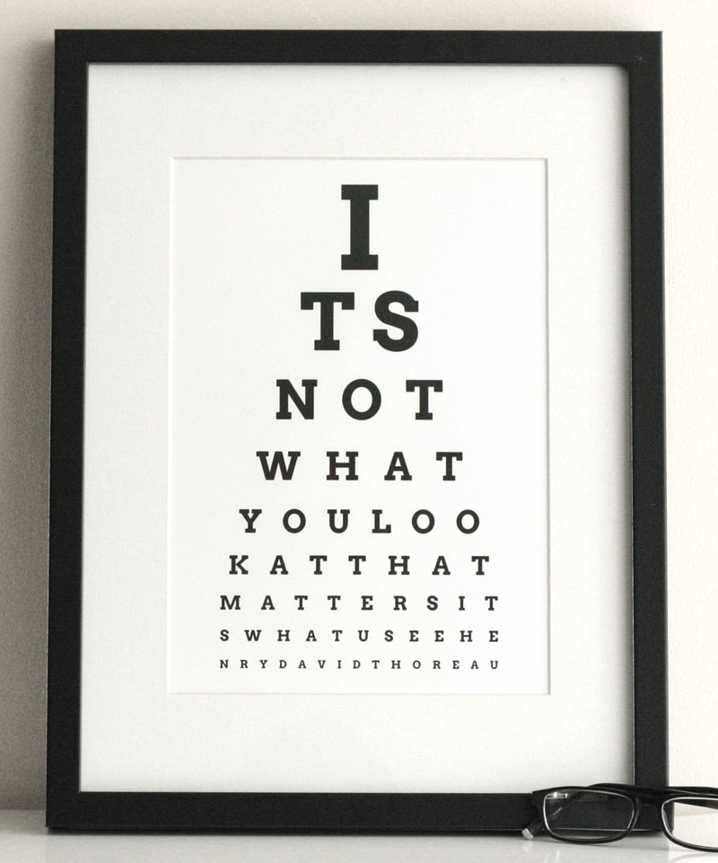Funny Poster Gift For Her Printable Art Inspirational: Create Custom EyeCharts Online