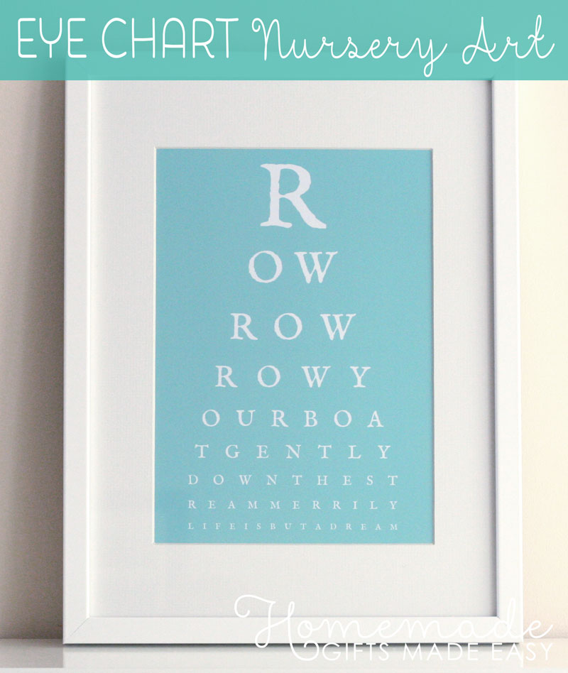 homemade baby gifts eye chart nursery art