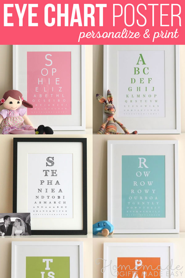 Eye Chart Maker | Make your own eyechart art to print at home