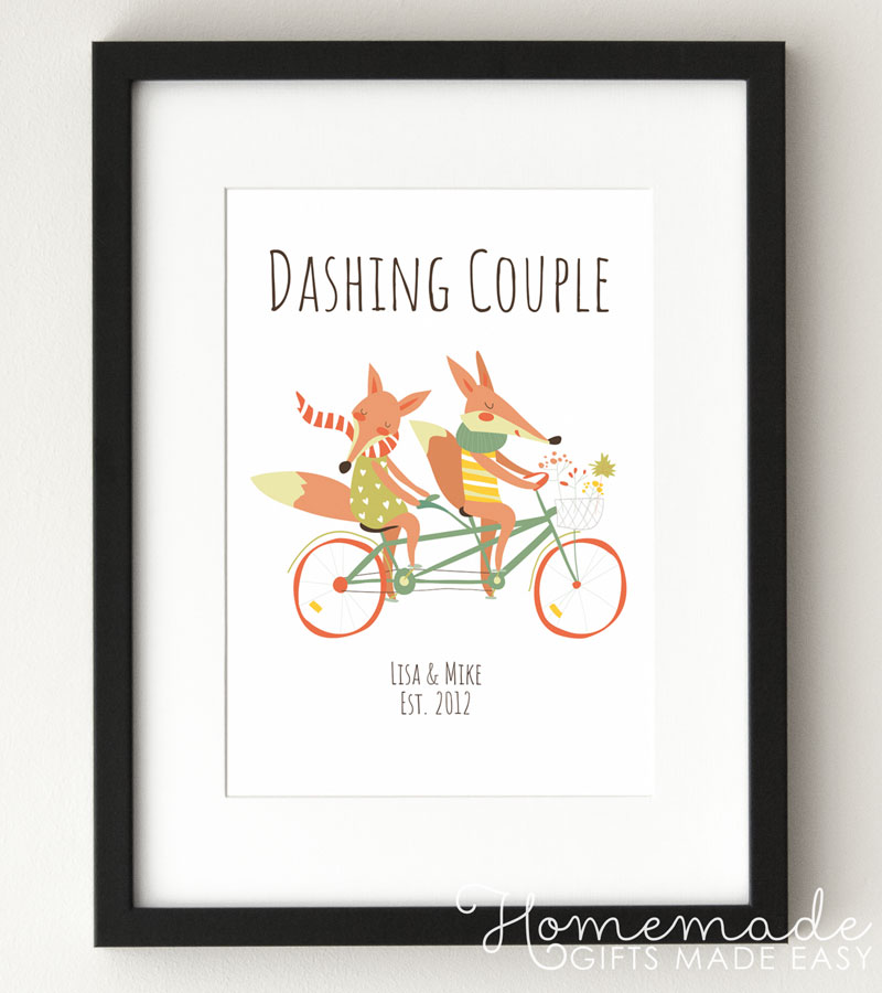 fox couple poster gift