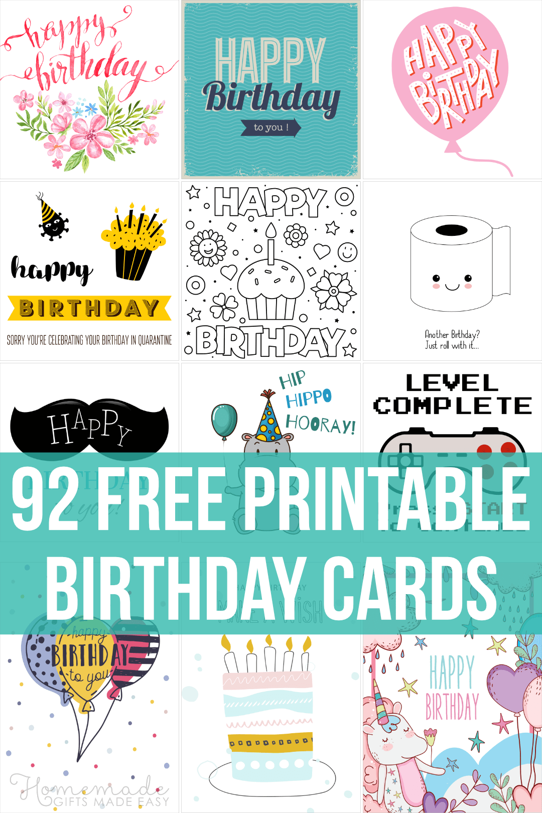 free printable birthday cards - 92 designs