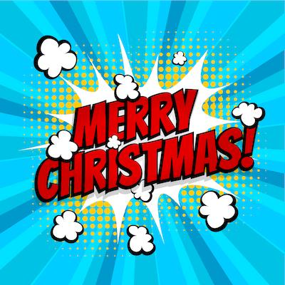 Free Printable Christmas Cards Kids Comic Style