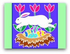 free printable easter cards leaping bunny