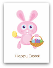 free printable easter cards pink bunny