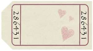 "Blank Love Coupons on ""paper"" background"