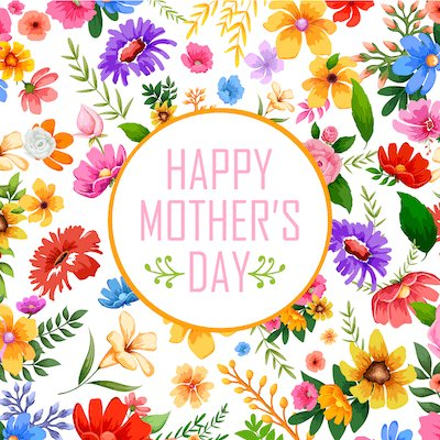 Free Printable Mothers Day Cards Colorful Flowers