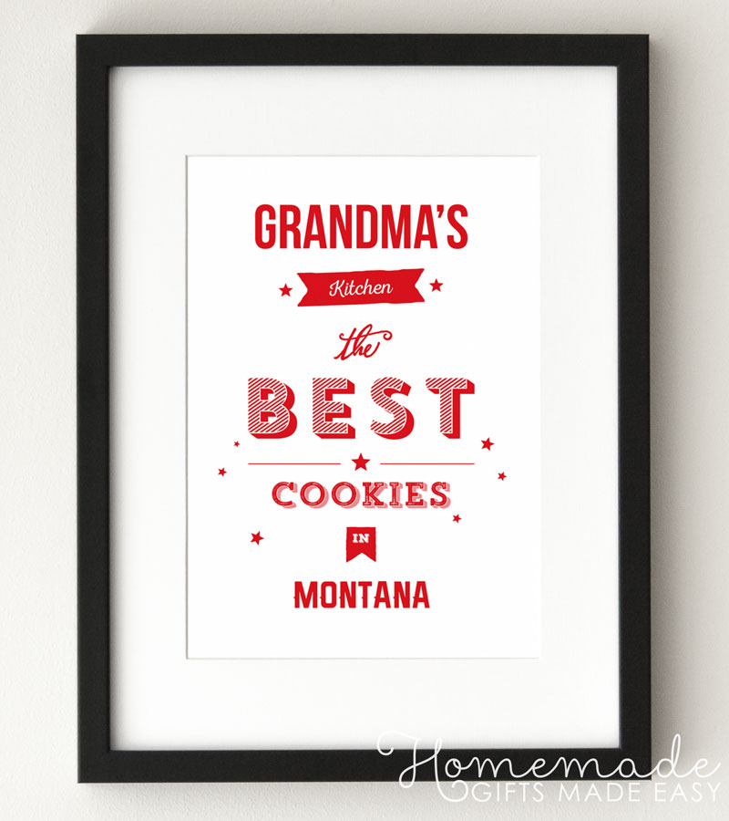 personalized poster gift moms kitchen