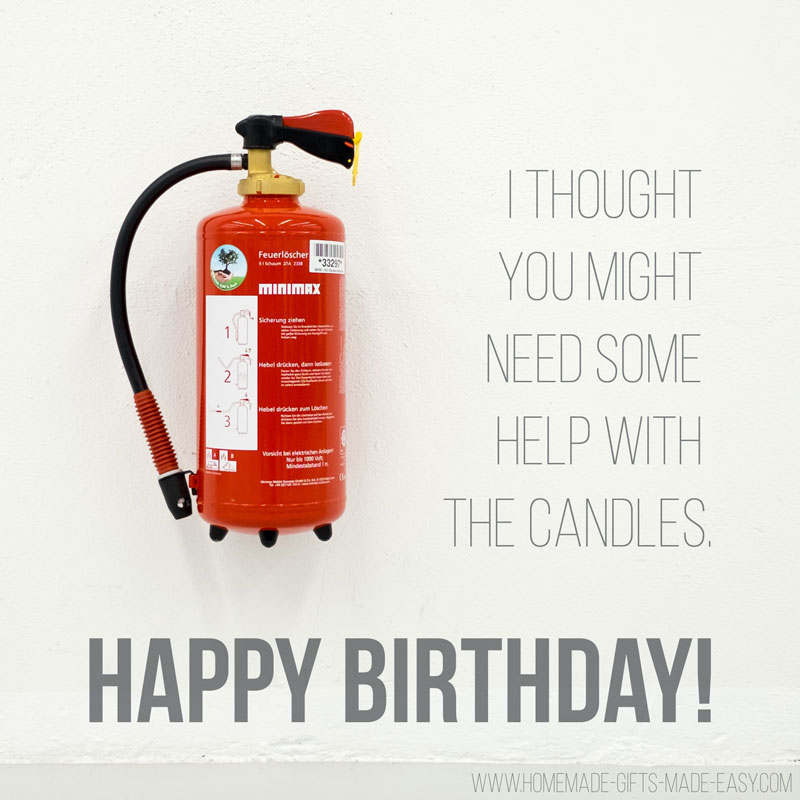 birthday wishes funny fire extinguisher to put out birthday candles