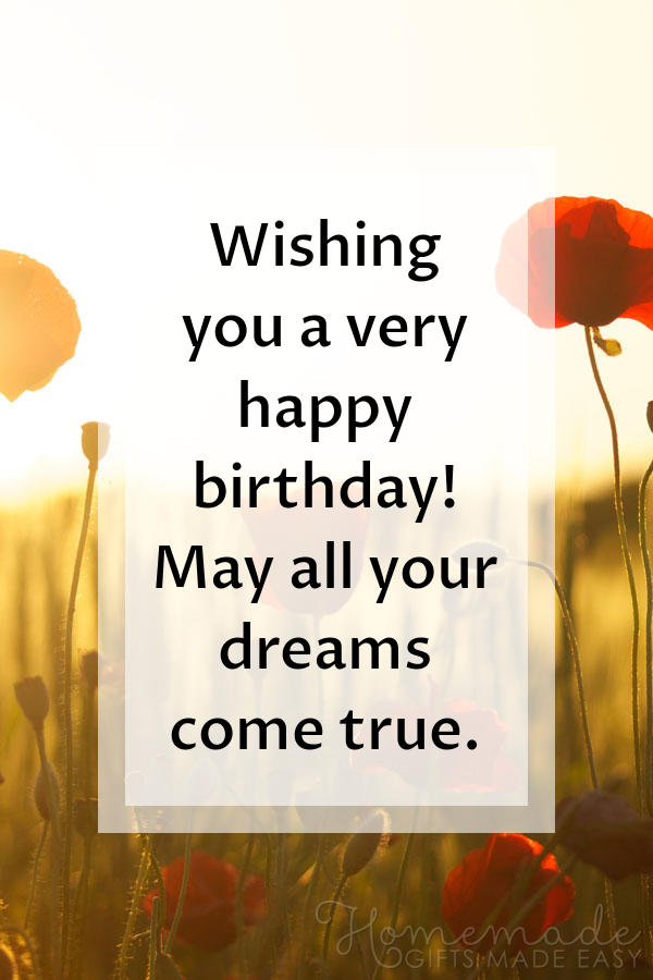 happy birthday wishes images dreams come true 600x900