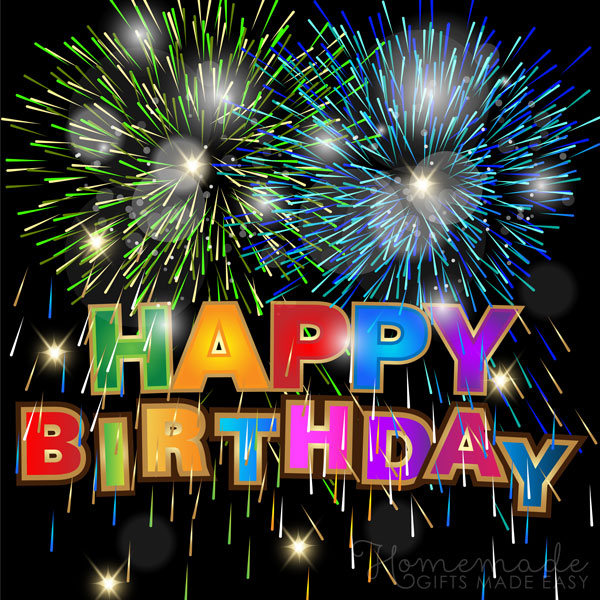 happy birthday images fireworks 600x600