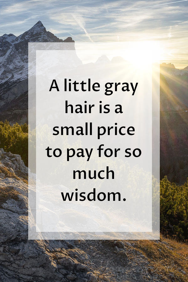 happy birthday images gray hair wisdom 600x900