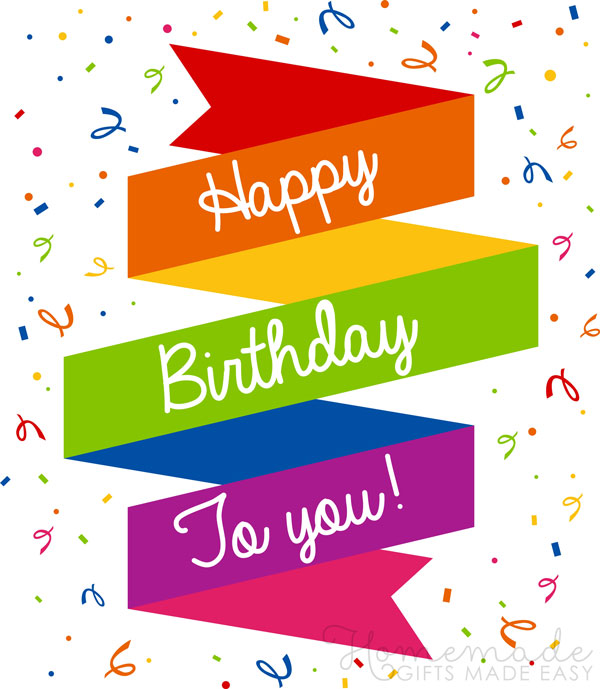happy birthday wishes images rainbow banner 600x689