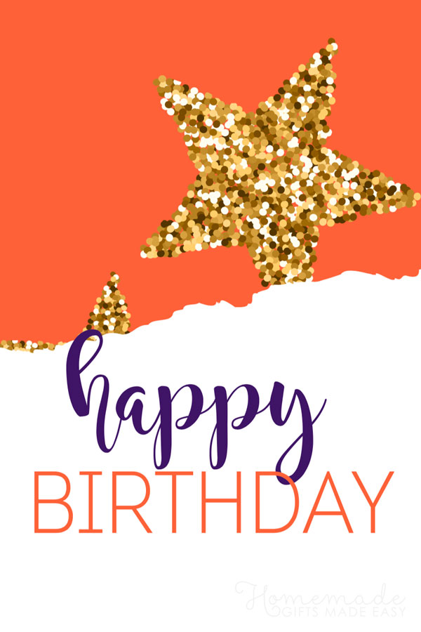 happy birthday images red gold gliter star 600x900