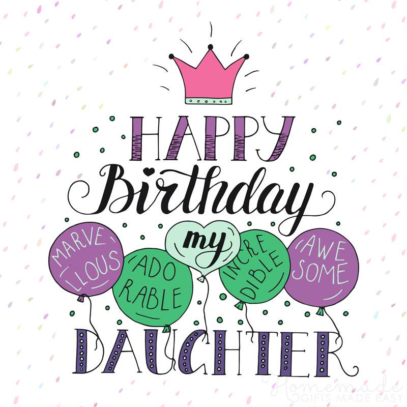 Pleasant 85 Happy Birthday Wishes For Daughters Best Messages Quotes Funny Birthday Cards Online Elaedamsfinfo