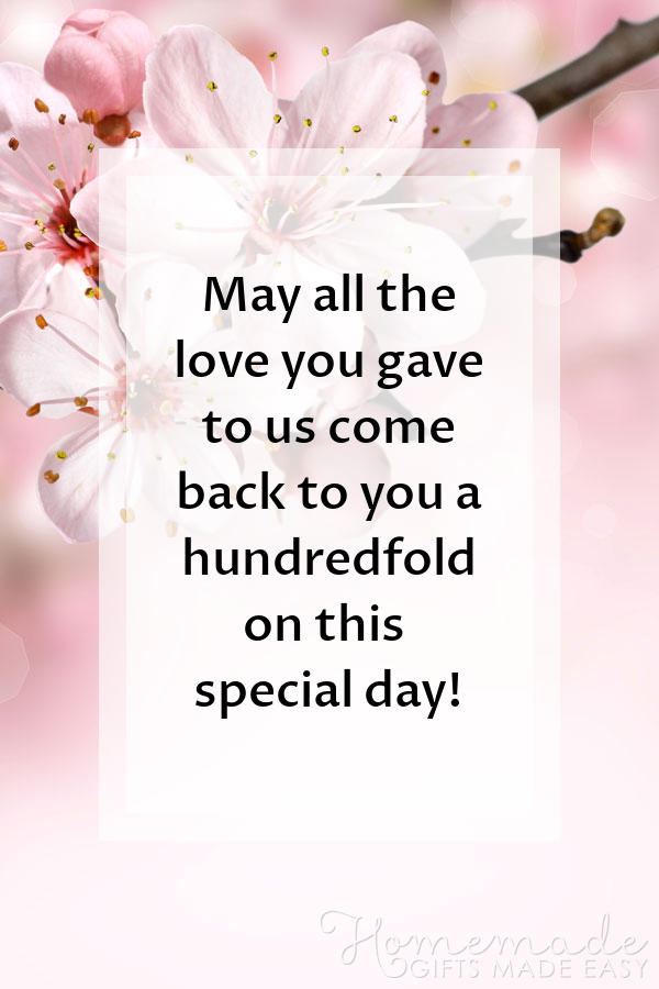 happy Mother's Day images love hundredfold 600x900