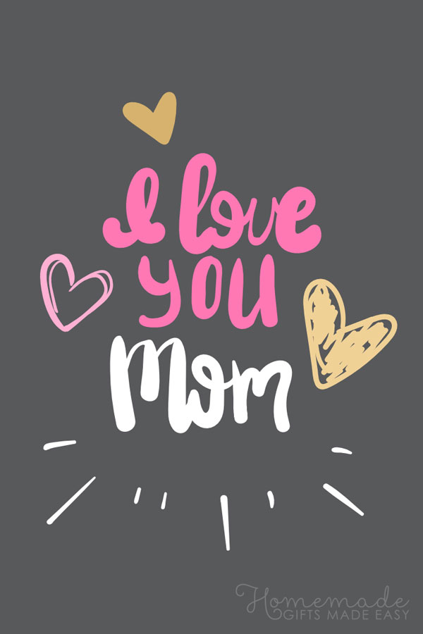 happy Mother's Day images love you mom black 600x900