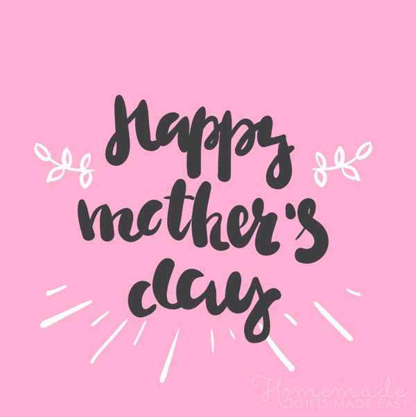 happy mothers day images pink black 600x600