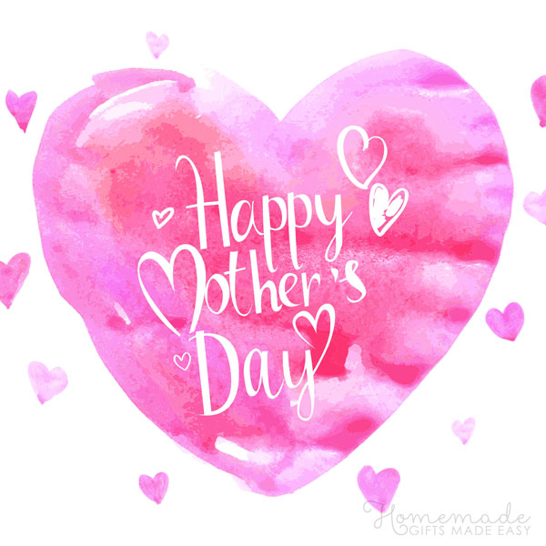 happy mothers day images pink heart 600x600