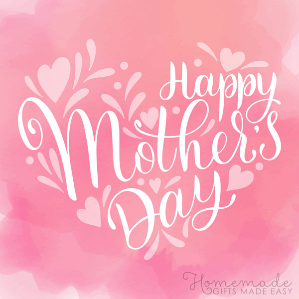happy Mother's Day images pink watercolor 600x600