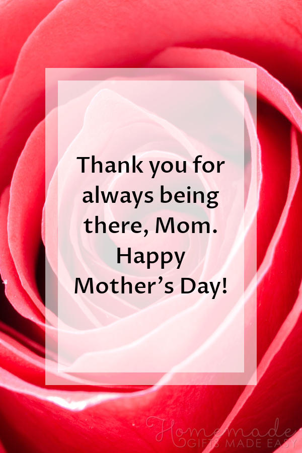 happy Mother's Day images thanks for being there 600x900