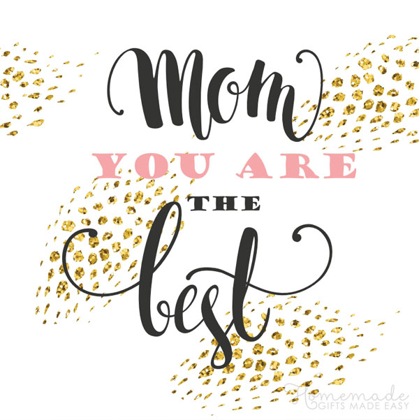 happy Mother's Day images you are the best mom gold 600x600