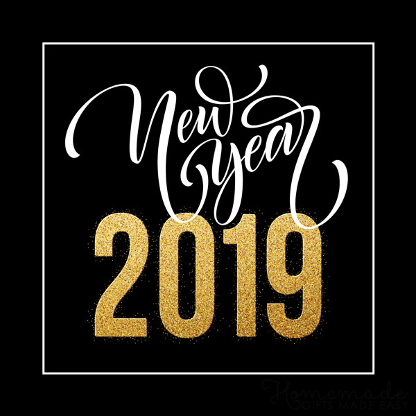 happy new year images 2019 black gold 600x600
