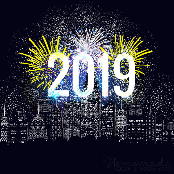 happy new year images 2019 cityscape fireworks 600x600