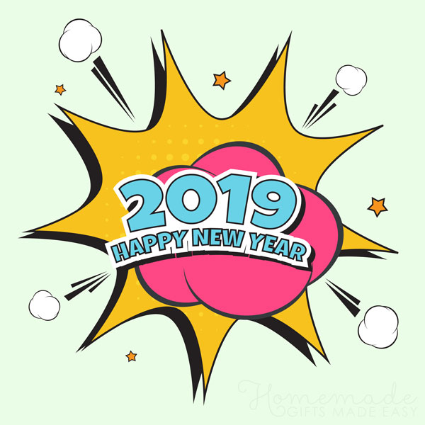 happy new year images 2019 comic 600x600