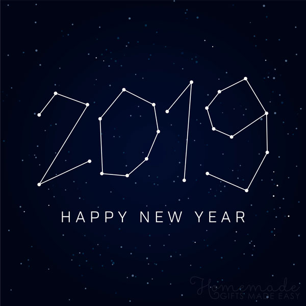 happy new year images 2019 constellation 600x600