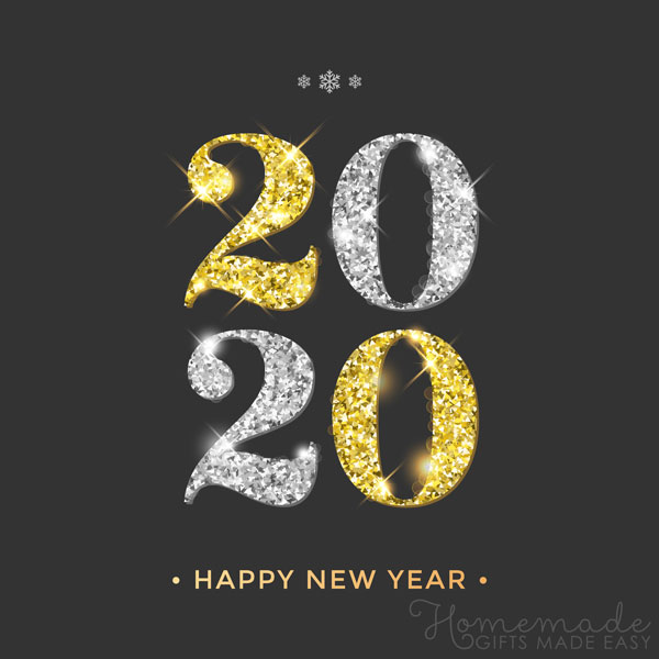 happy new year images 2020 gold and silver