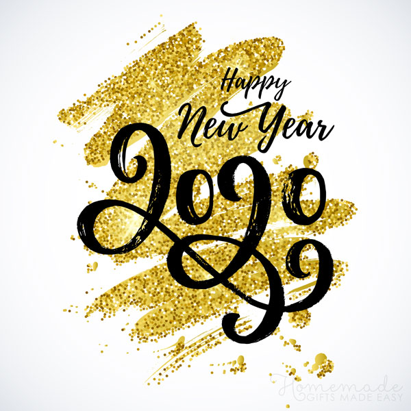 happy new year images 2020 gold glitter