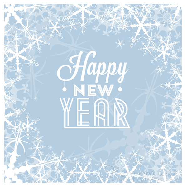 happy new year images snowflakes 600x600