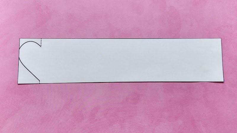 paper heart chain step 1