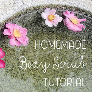 homemade body scrub jar gift