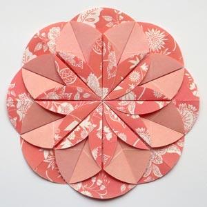 pink origami dahlia flower