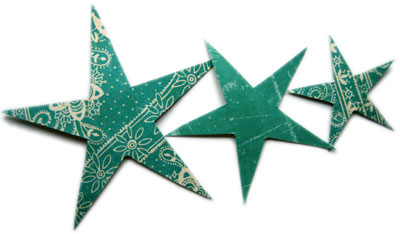 homemade christmas card ideas stars