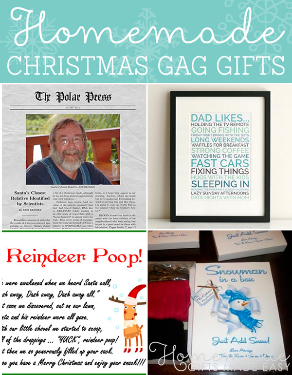 homemade christmas gag gifts holiday gag gifts