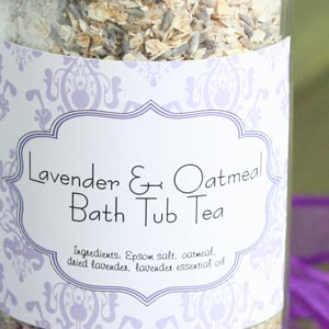 homemade oatmeal bath jar gift